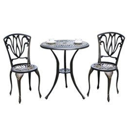 cast aluminum 3 piece bistro set
