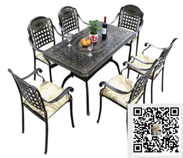 cast aluminum dining set 7 piece