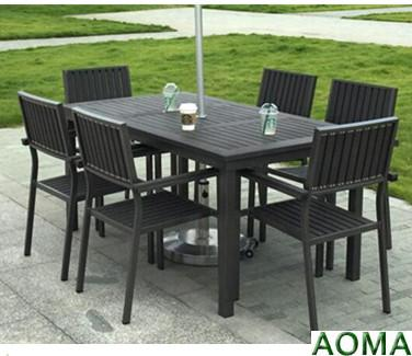 aluminum table and chairs