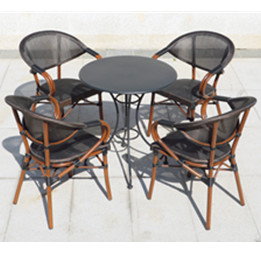 Aluminium Dining Set with textilene chairs